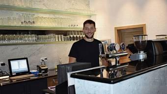 Milos Klincov freut sich, dieses Wochenende die ersten Gäste im Restaurant Rössli in Obermumpf begrüssen zu dürfen.