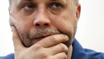 Der zurückgetretene Alexander Borodaj an einer Medienkonferenz
