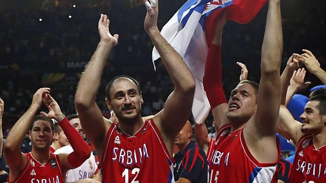 Treffen im WM-Final auf die USA: Serbiens Basketballer