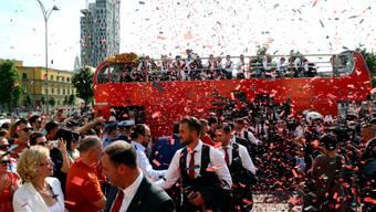 Grosse Begeisterung in Tirana für die EM-Helden