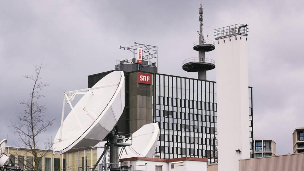 Blick auf das SRF-Gebäude in Zürich