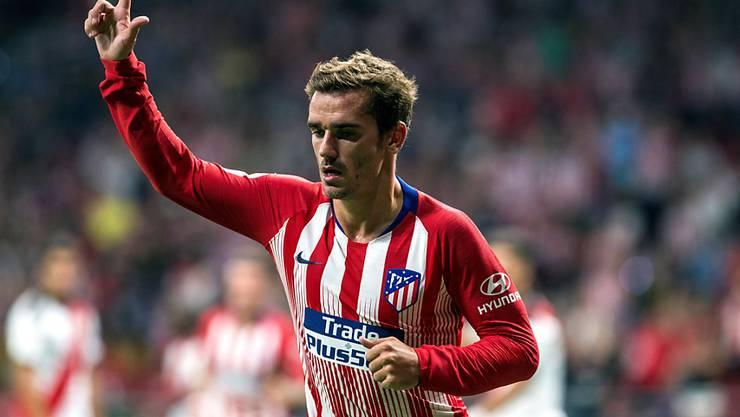 Antoine Griezmann erlöst die Fans von Atlético mit seinem Treffer im Derby gegen Rayo Vallecano