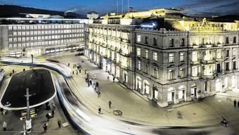 Grossbanken am Zürcher Paradeplatz.