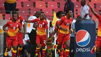 Ghana feiert den Einzug in die Viertelfinals