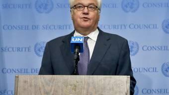 Der russische UNO-Botschafter Witali Tschurkin legte wie sein chinesischer Amtskollege das Veto ein gegen eine Resolution für eine Feuerpause in Aleppo. (Archiv)