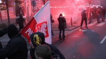 Ausschreitungen in Warschau: Mehr als 130 Personen wurden festgenommen