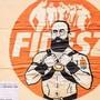 """""""F**k Orban: I am what i am"""" heisst das Werk der Street-Art Künstlerin Laika in Rom."""