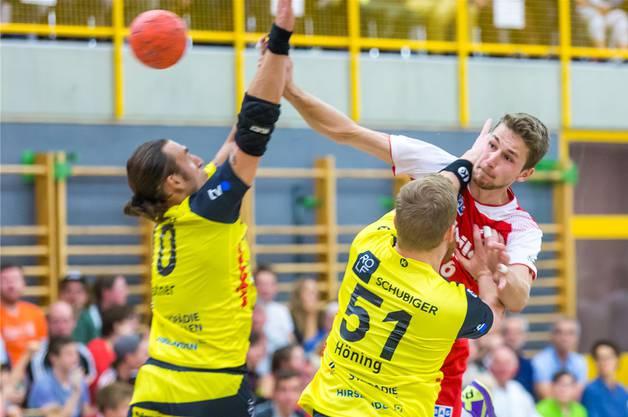Linus Staubli kennt keinen Schmerz, wenn er für den TV Muri Handball auf Punktejagd geht.