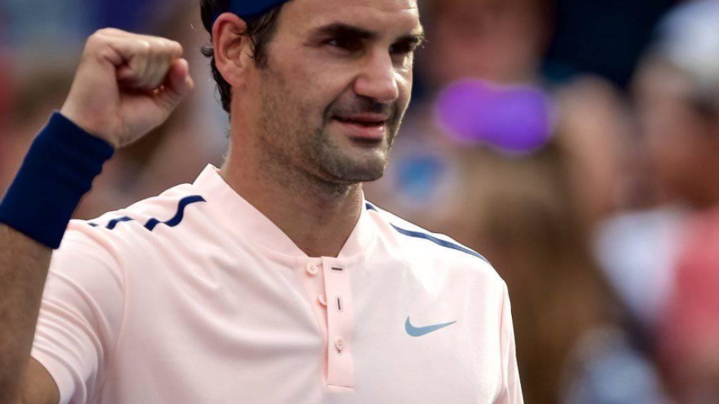 In Montreal nach einer souveränen Leistung im Halbfinal: Roger Federer