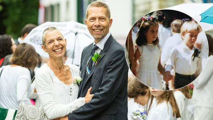 Wer hätte das gedacht, damals vor 44 Jahren: Anna und Andreas Koch liefen als Erstklässler Hand in Hand am Maienzug, seit 22 Jahren sind sie ein Paar.