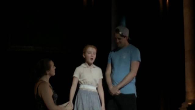 Aufnahmen von der Hauptprobe des Musicals Evita