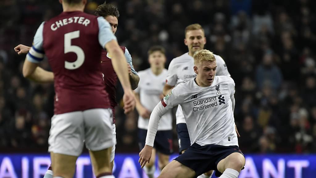Die jungen Liverpooler um Luis Longstaff konnten gegen Aston Villa nichts ausrichten.