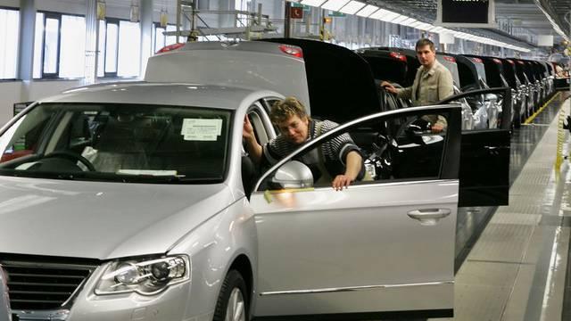 Produktionslinie des VW Passat im deutschen Zwickau (Symbolbild)