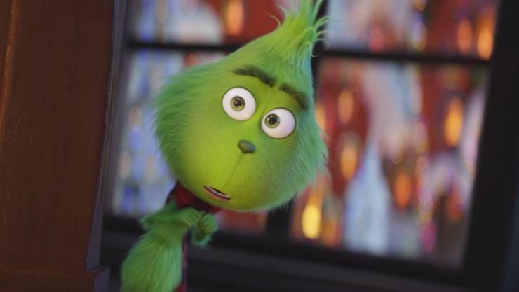 """""""The Grinch"""" hat am Wochenende vom 13. bis 16. Dezember 2018 in den Schweizer Kinos seine Leaderposition verteidigt. (Archiv)"""