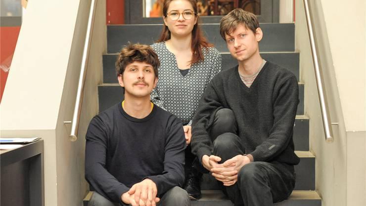 Lukas Huber, Mathilde Raemy und Leo Hofmann wollen weg von der klassischen Rollenverteilung zwischen Komponisten und Interpreten, hin zu einem kollektiven Schaffen. Martin Töngi