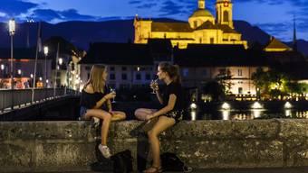 Solothurn während der blauen Stunde