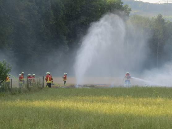 In Stilli brannte gegen 19 Uhr wegen einer verirrten Rakete ein Stoppelfeld: Die Feuerwehr konnte die Fläche von rund 100 Quadratmetern löschen und eine Ausbreitung verhindern.