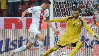 Dreifacher Torschütze gegen Georgien: Polens Robert Lewandowski