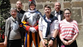 Die Familie Studer bei einem Besuch in Rom: (vl.) Cornelia, Philipp, Michael, Alexander, Christian und Monika.
