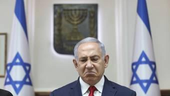 Ihm droht ein Gerichtsverfahren wegen Korruption: Noch-Ministerpräsident Benjamin Netanjahu.