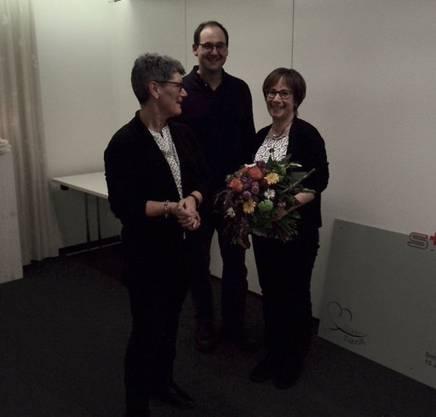 Der neue Vereinsarzt mit der neuen und verabschiedeten Präsidentin