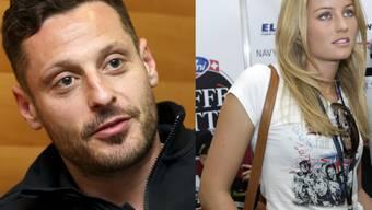 Zwei, die sich gefunden haben: Eishockey-Altstar Mark Streit und Ex-Miss-Bern Fabienne Kropf. (Archivbilder)