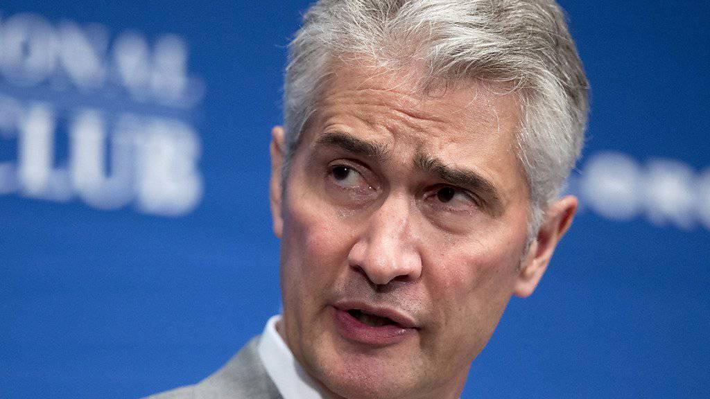 Im Zuge von Untersuchungen wegen Korruptionsverdacht hat United-Airlines-Chef Jeff Smisek seinen Rücktritt bekannt gegeben. (Archivbild)