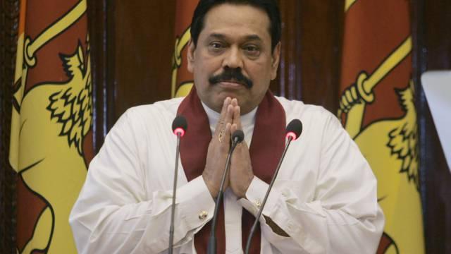 Sri Lankas Präsident Mahinda Rajapakse (Archiv)