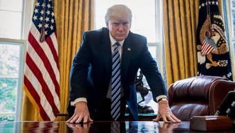 US-Präsident Donald Trump im Oval Office. Ob er wiedergewählt wird, zeigt sich kommende Woche.