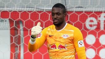 Der frühere YB-Goalie Yvon Mvogo wartet bei RB Leipzig immer noch (und wohl vergebens) auf eine echte Bewährungschance