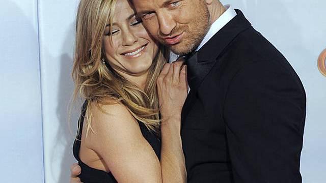 Der schottische Schauspieler Butler mag Aniston offenbar (Archiv)
