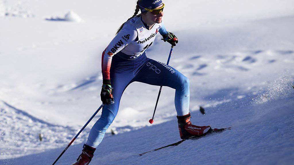 Schweizer Meisterin über 5 km Skating: die Luzernerin Nadine Fähndrich
