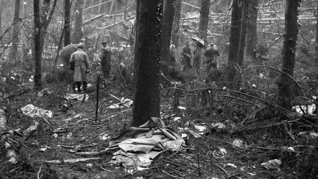 Vor 50 Jahren: Swissair-Maschine stürzt in Würenlingen AG ab