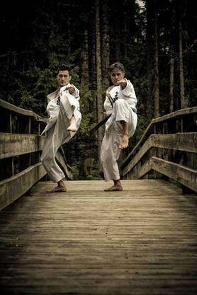 Cheftrainer Karateclub Laufenburg Murat Sahin und Cheftrainer Karateclub Rheinfelden Zübeyir Sahin