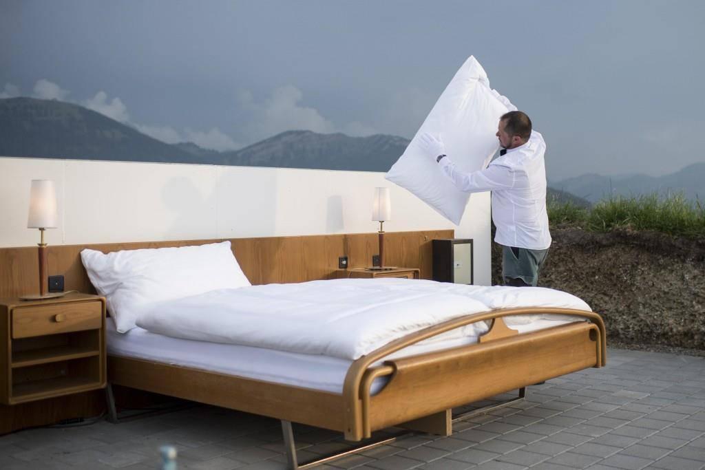 Null-Stern-Hotel unter freiem Himmel