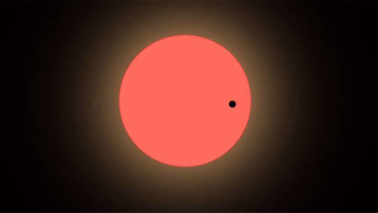 Roter Zwerg mit dem PlanetenLHS 1140b (schwarz).SPACEREF