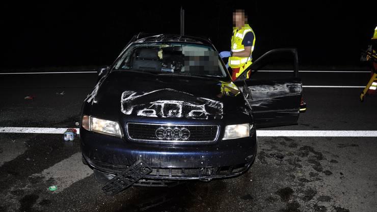 Bei Härkingen ist auf der A2 ein Autolenker eingenickt und verunfallt.