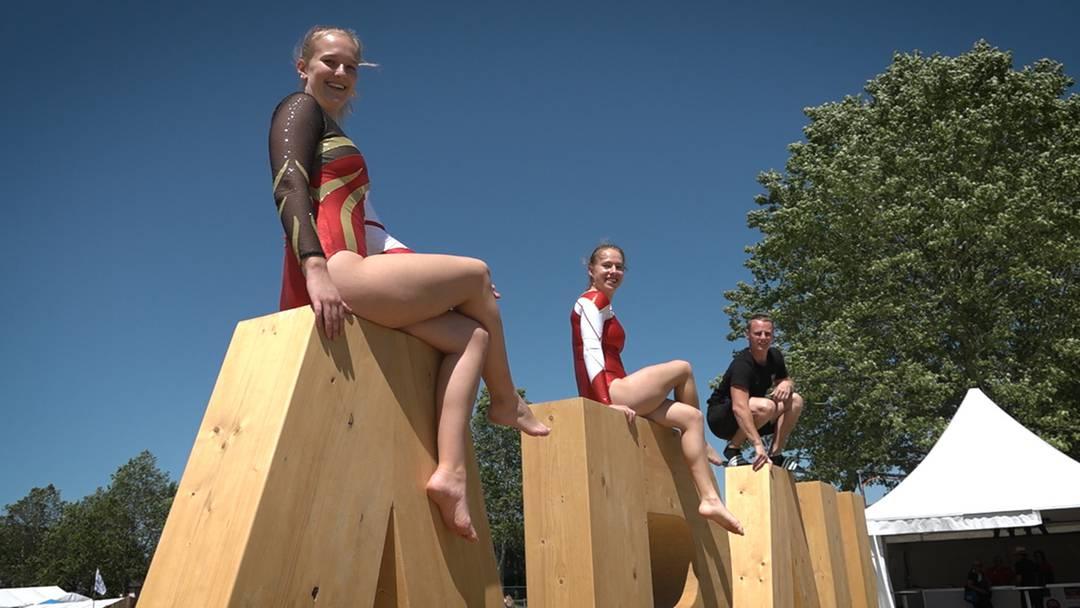 Turnfest-Highlight: An diesen Holzbuchstaben kann niemand vorbeigehen