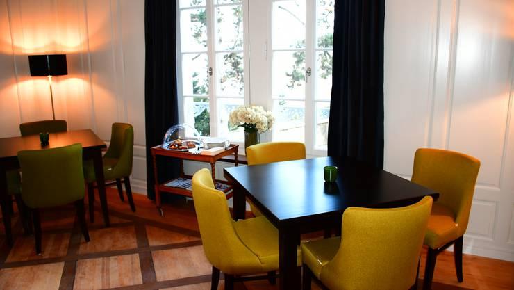 """Mit der Eröffnung des Hotels von Marco Polo Business Apartments ist die Altstadt Brugg um ein öffentliches Café reicher geworden. Im ersten Stock befindet sich das """"Brugger Café""""."""