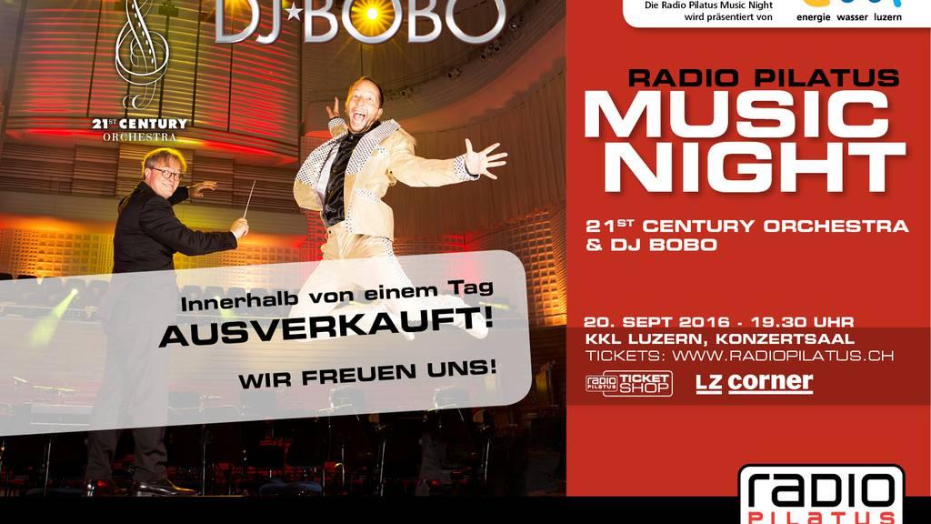 DJ BoBo: Radio Pilatus Music Night ausverkauft