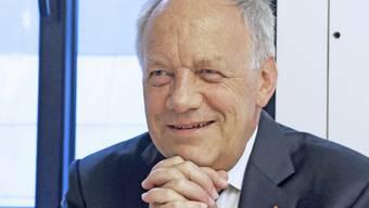 Bundesrat Johann Schneider-Ammann wirbt in den USA für das duale System der Berufsbildung der Schweiz (Archiv)