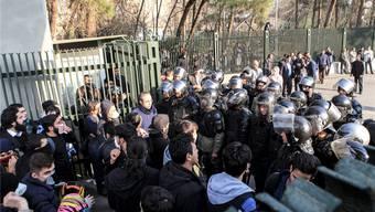 Proteste in Teheran: Die Regierung hat den «Schuldigen» ausgemacht. Key