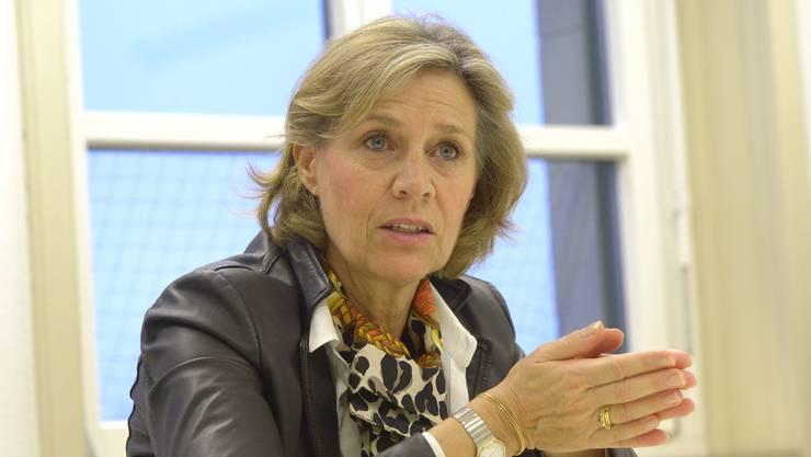 Patricia von Falkenstein will LDP-Präsidentin bleiben — und überlegt sich eine Ständeratskandidatur.