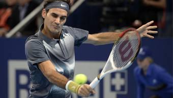 Roger Federer bei den Swiss Indoors in Basel