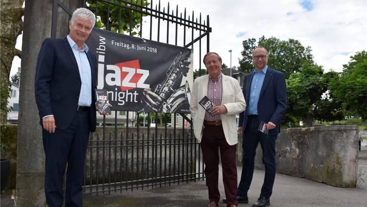 Peter Lehmann, Hanspeter Weisshaupt und Beat Koch (von links) von der ibw sind stolz auf ihre Jazz Night.
