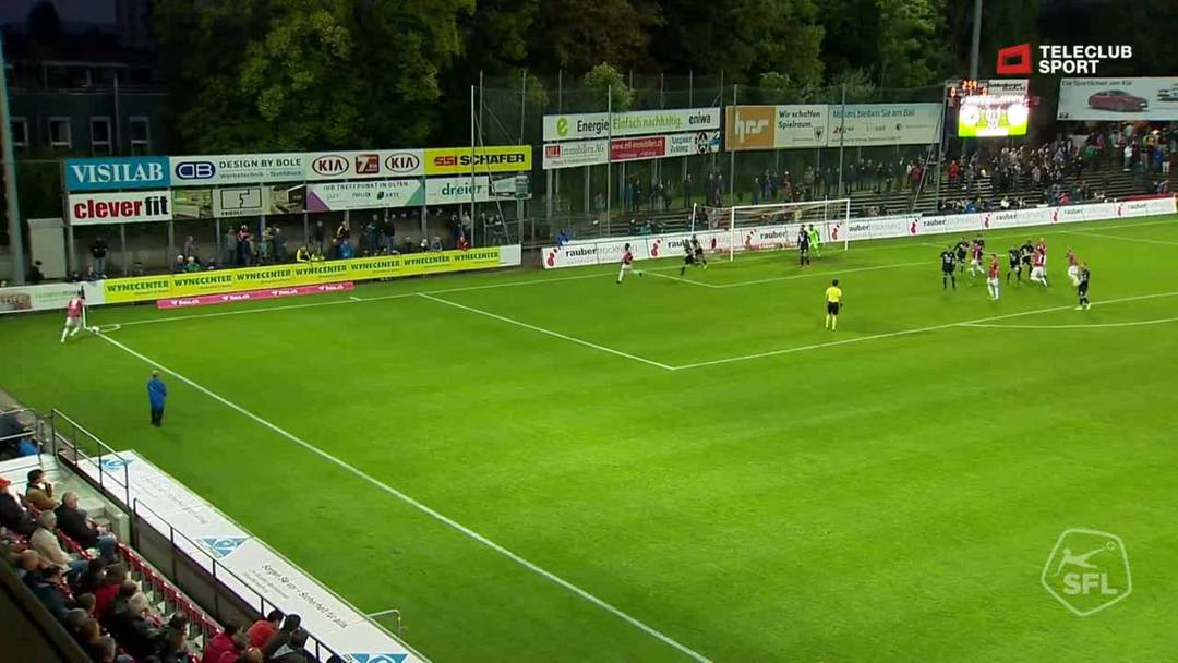 Challenge League: FC Aarau - FC Stade Lausanne-Ouchy, 4. Minute