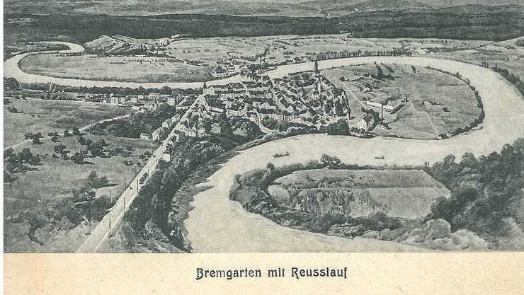 Heute ist Weltpostkartentag. Zu diesem Anlass zeigen wir historische Postkarten aus dem Freiamt. Diese wurde von Bremgarten aus an einen Adressaten in Zürich geschickt. Das Datum ist leider nicht eruierbar.