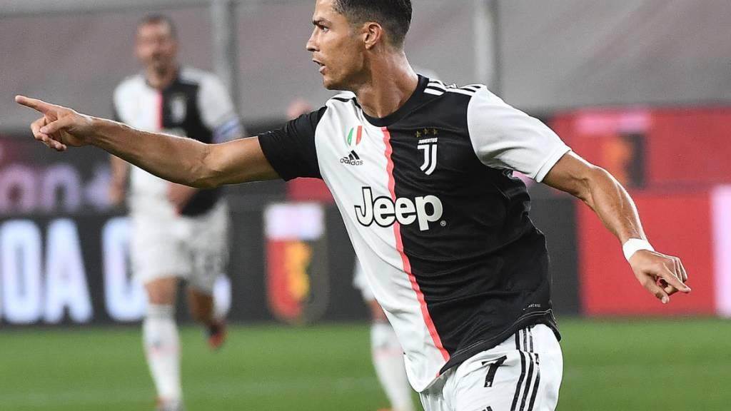 Cristiano Ronaldo bejubelt sein Weitschusstor