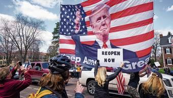 US-Amerikaner demonstrieren gegen den Lockdown – mit dem Segen von Präsident Donald Trump.
