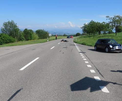 Der Unfall geschah Eingangs Buttwil.